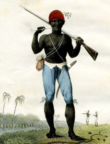A Coromantyn Free Negro or ranger armed (1777)
