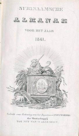 Surinaamsche Almanak voor het jaar 1841