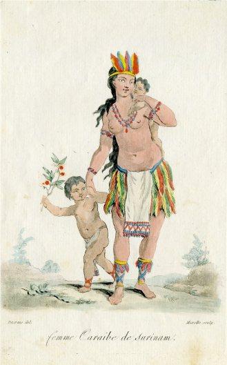 Caribe vrouw uit Suriname (18e eeuw)