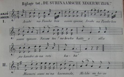 'De Surinaamsche negermuzijk' door Focke (1856)