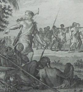 Slaven die naar de markt worden vervoerd (Raynal)