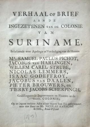 Pichot titelblad (collectie: Buku - Bibliotheca Surinamica)