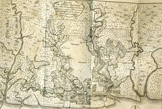 Kaart Suriname Thomson
