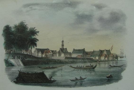 landingsplaats bij Fort Zeelandia Paramaribo k
