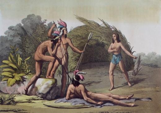 Prent indianen Gallina 1825