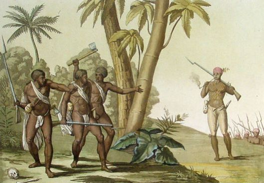 Guyana Slave Rebellion 1825 Ferrario & Bonatti Antique Print Guyana Slave Rebellion of 1823, Gladstone