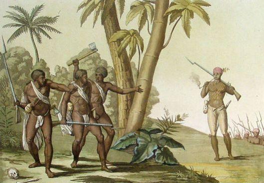 Guyana Slave Rebellion 1825 Ferrario & Bonatti Antique Print Guyana Slave Rebellion of 1823, Gladstone
