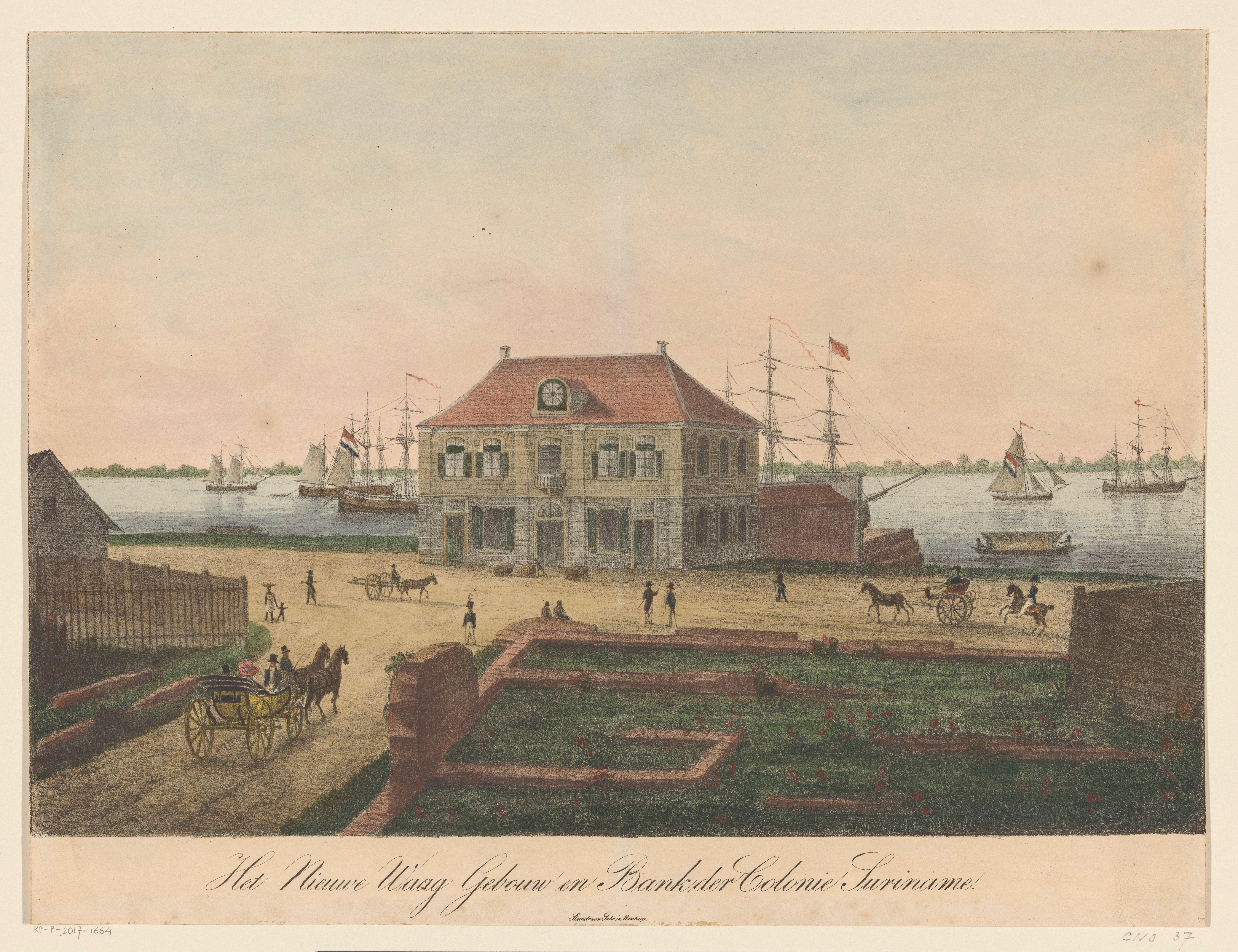 Nieuwe Waag Paramaribo collectie Rijksmuseum