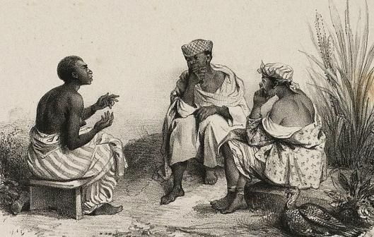 Benoit 1839-02 negerinnen op bezoek